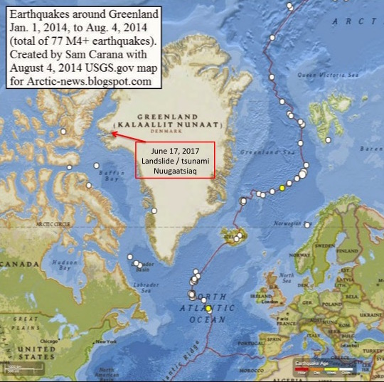 The Location Of The June 17 Event As Shown Above Was In The Small Village Of Nuugaatsiaq About Mid Way Up The Western Side Any Sudden Massive Displacement