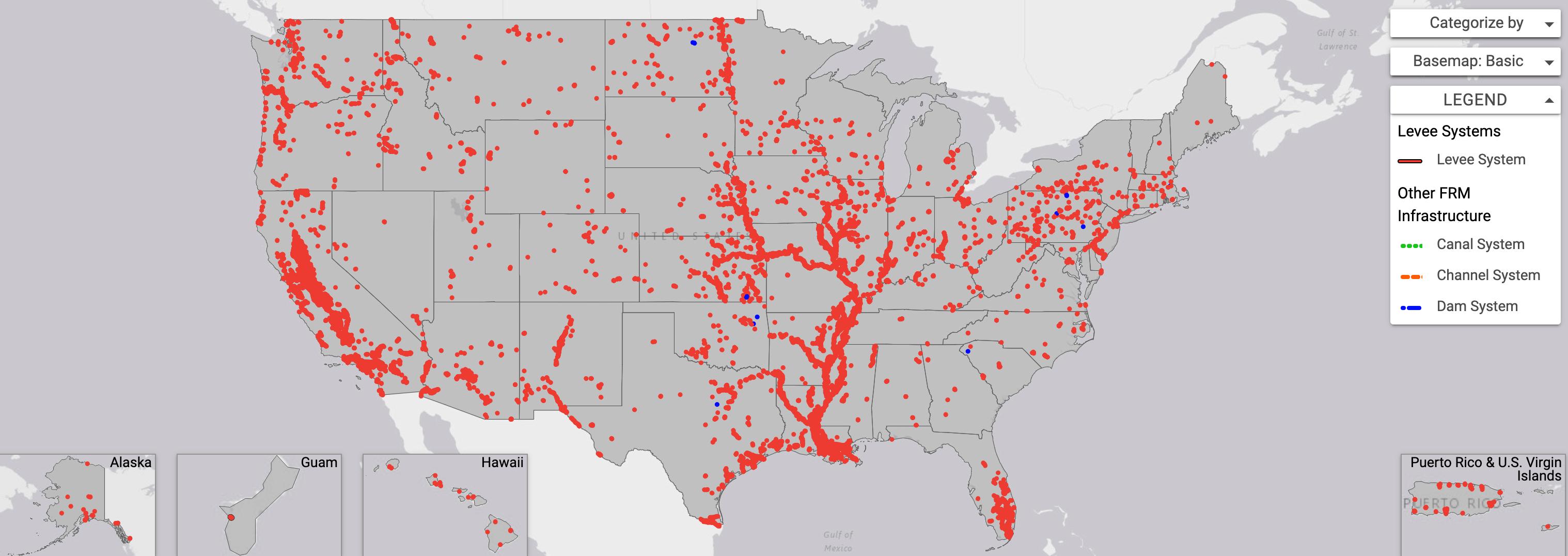 Us Levee System Interactive Map Screenshot John Englander Sea - Interactive-map-us